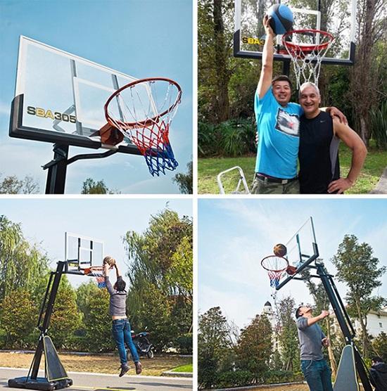 sử dụng trụ bóng rổ