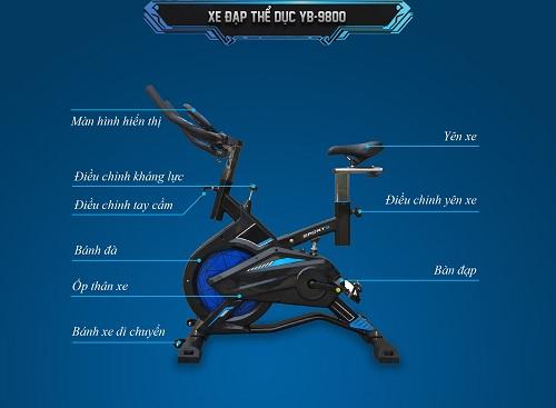 xe đạp thể dục YB 9800