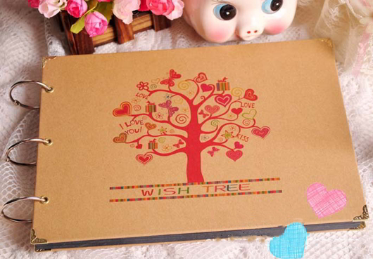 Album handmade Wish tree dễ thương cho Tình yêu