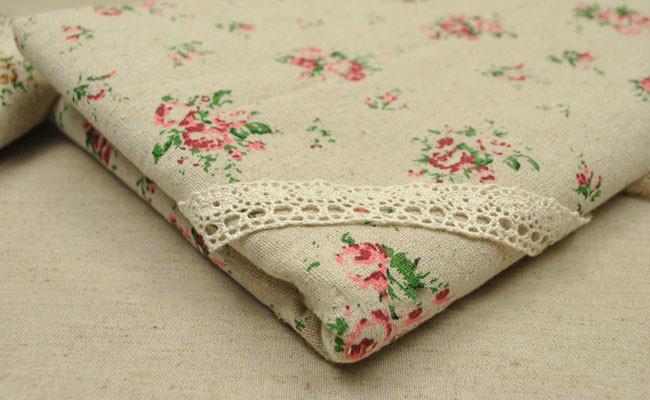 Vải bố hoa vintage