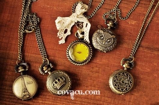 Đồng hồ dây chuyền vintage