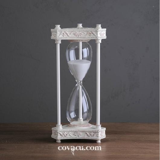 Đồng hồ cát màu trắng