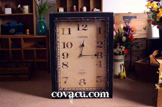 Đồng hồ hộp gỗ giả cổ