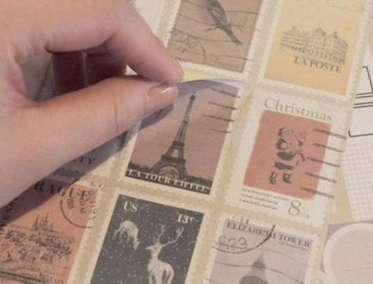 Sticker tem làm quà tặng handmade