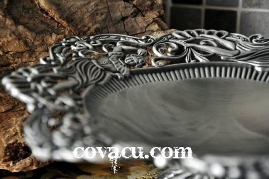 Đĩa giả bạc phong cách cổ điển vintage