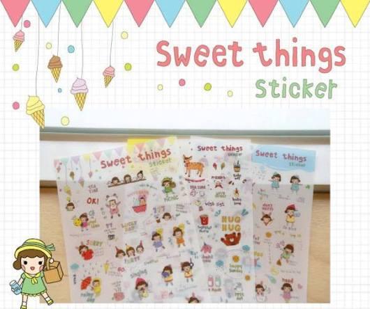 Sweet thing sticker (PVC)
