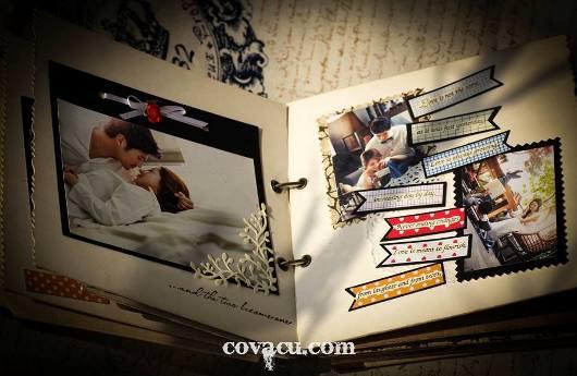 Scrapbook handmade vintage