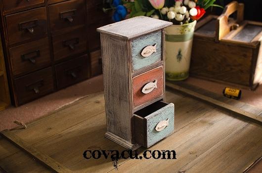 Hộp gỗ vintage đựng đồ