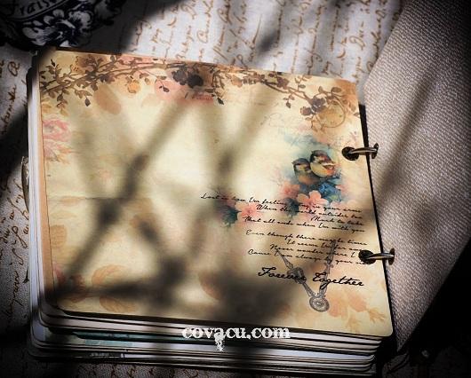 Scrapbook album ảnh handmade chủ đề hoa