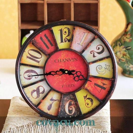 Đồng hồ vintage treo tường Chanvin Paris
