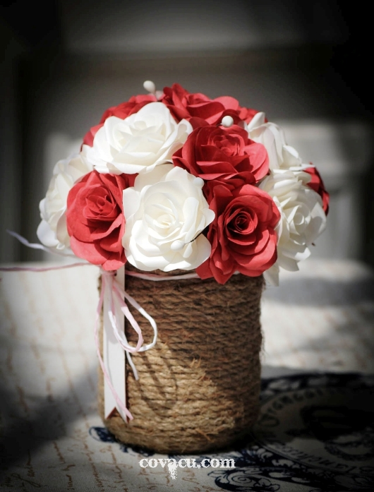 hoa valentine handmade