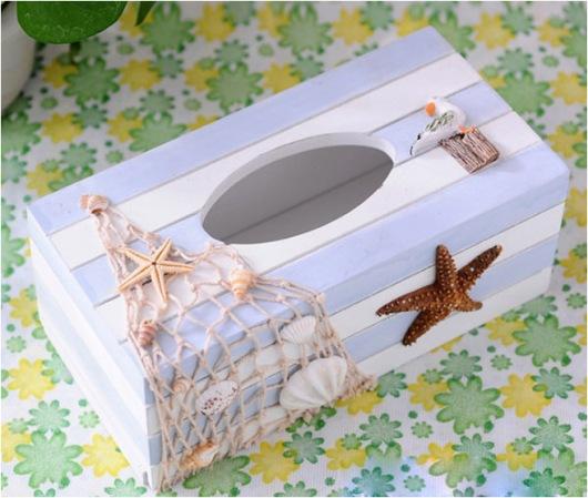 Hộp gỗ đựng khăn giấy độc đáo