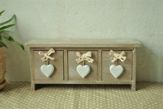 Hộp gỗ vintage trái tim