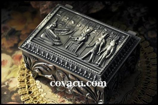 Hộp nữ trang ai cập cổ độc đáo