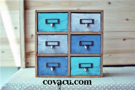 Hộp gỗ đựng đồ vintage đẹp