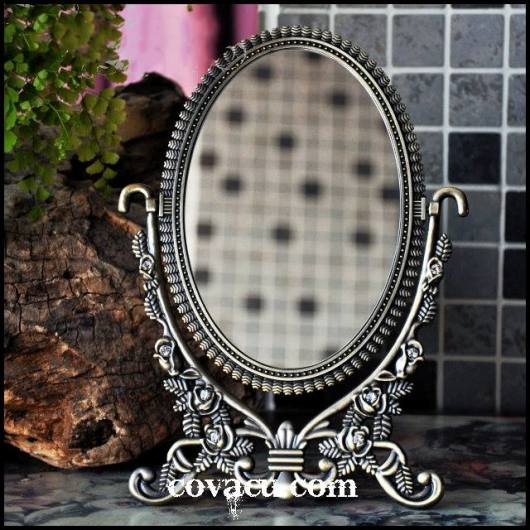 Gương kiểu cổ dáng thấp 22cm