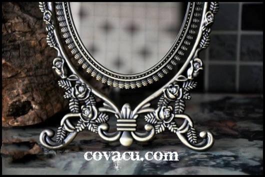 Gương giả bạc trang trí kiểu cổ