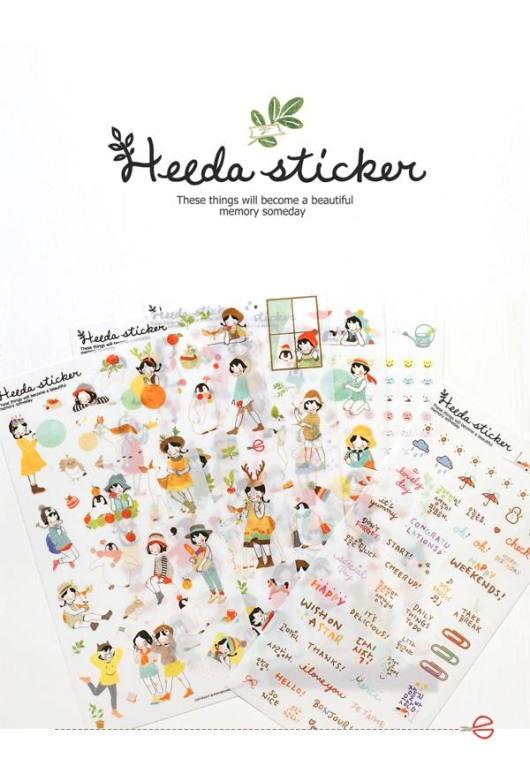 Sticker trang trí Heeda