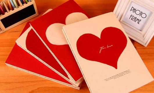 Sổ tay dễ thương trái tim