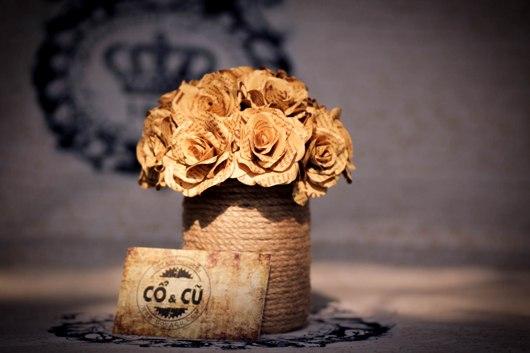 Hoa giấy handmade tặng bạn trai