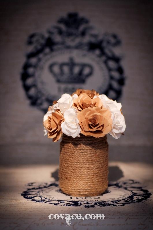 Cách làm hoa giấy handmade