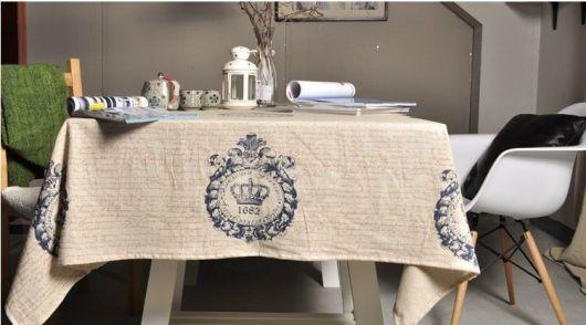 Vải canvas may khăn trải bàn