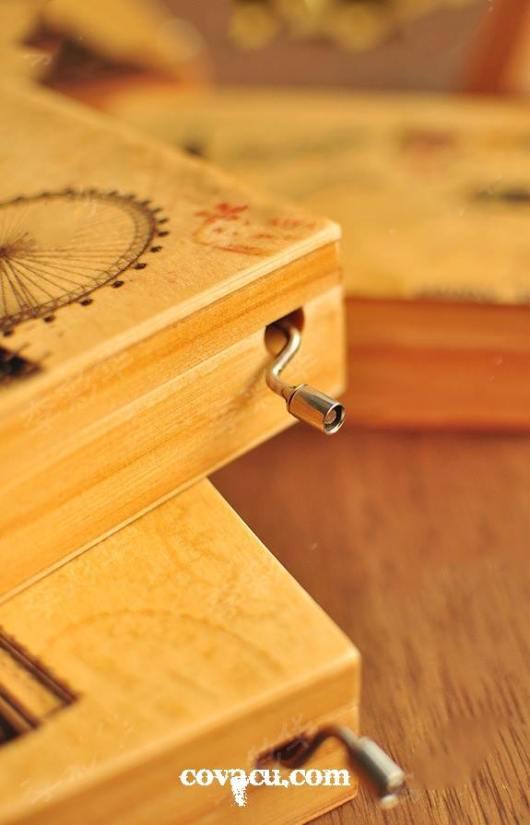 Hộp nhạc, hộp gỗ đựng đồ trang sức, nữ trang. Quà sinh nhật độc đáo