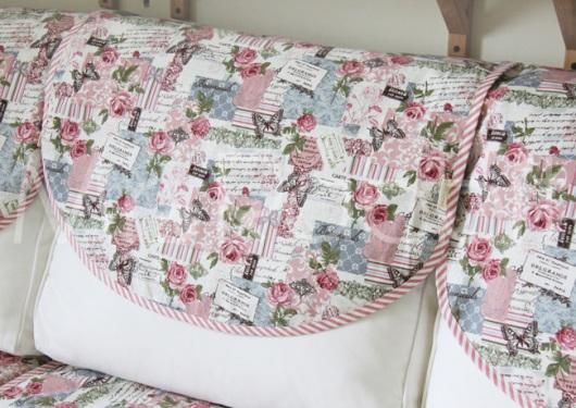 Vải canvas hoa hồng và bướm làm rèm cửa độc đáo