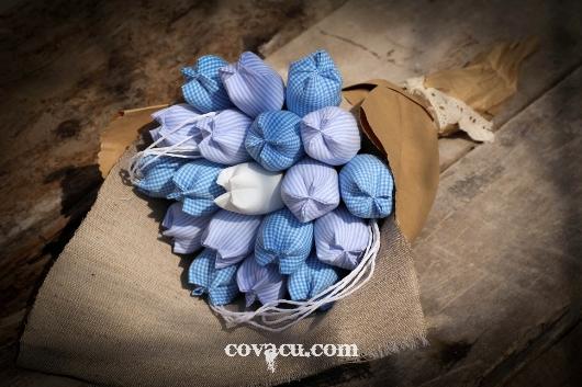 Hoa vải đẹp tulip handmade