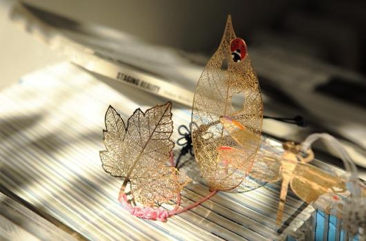 Lá khô trang trí handmade
