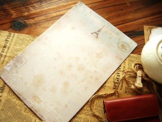 Giấy viết thư vintage cá tính