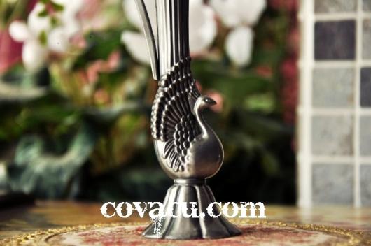 Bình đẹp giả bạc kiểu cổ trang trí nhà