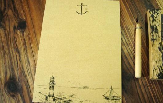 Shop quà tặng giấy viết thư vintage  đẹp