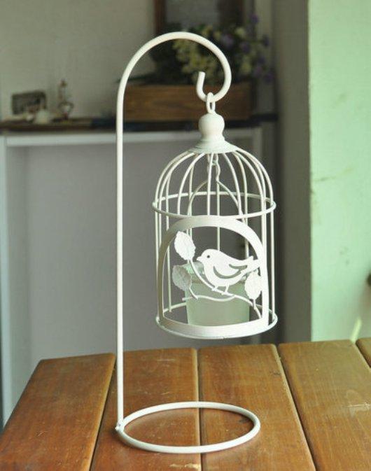 Chân nến kim loại hình lồng chim đẹp