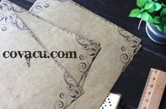Giấy viết thư hoa văn cổ điển độc đáo