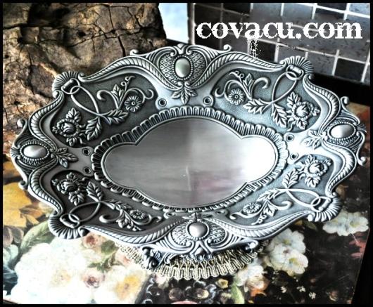 Đĩa giả bạc trang trí độc đáo