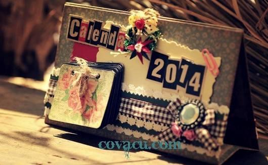 Lịch handmade vintage 2014
