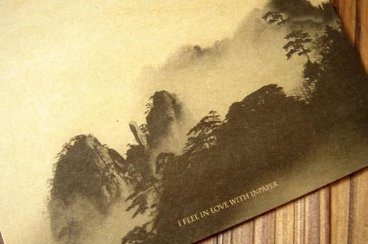 Giấy viết thư phong cảnh núi rừng