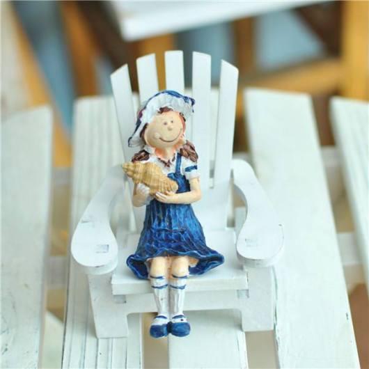 Tượng ngồi ghế trang trí nhà kiểu biển