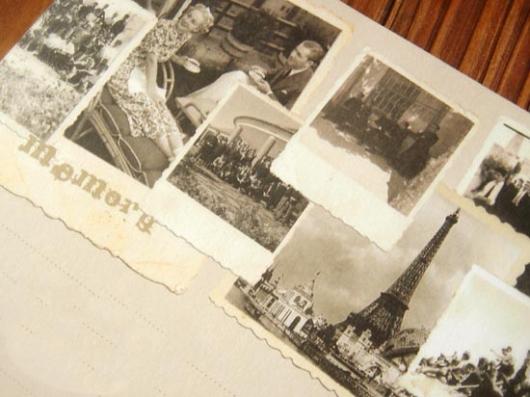 Giấy viết thư in ảnh phong cảnh châu Âu đẹp