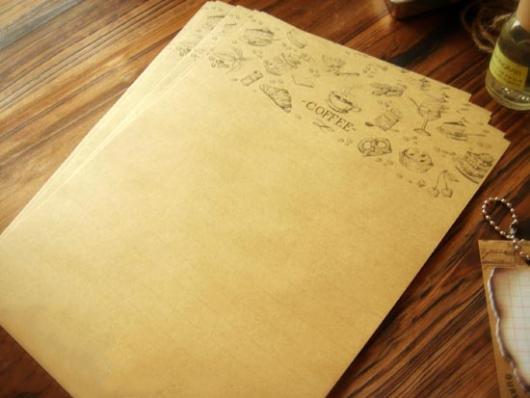 Giấy viết thư vintage cổ điển đẹp