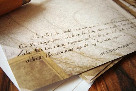 Quà tặng giấy viết thư vintage