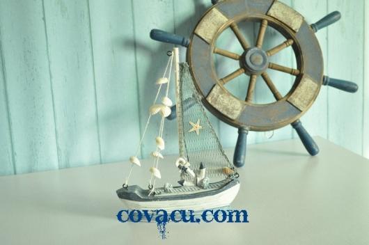 Thuyền buồm trang trí nhà Mediterranean sea