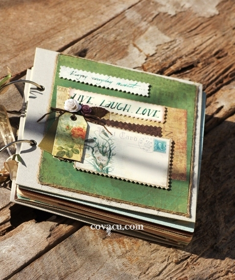 Album handmade vintage LIVE LAUGH LOVE