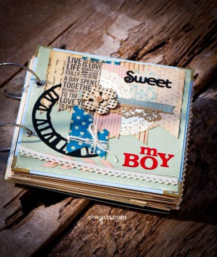 Scrapbook tự làm DIY bé trai chủ đề MY BOY
