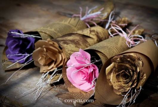 Hoa giấy handmade