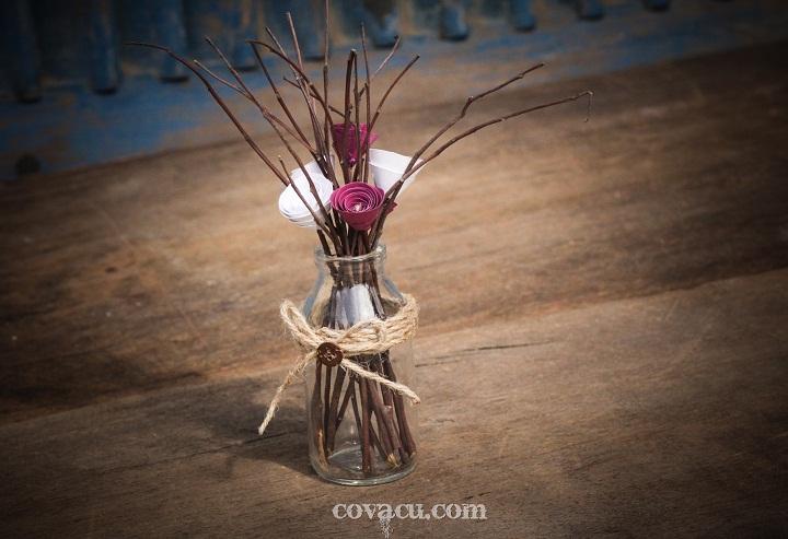 Bình hoa handmade