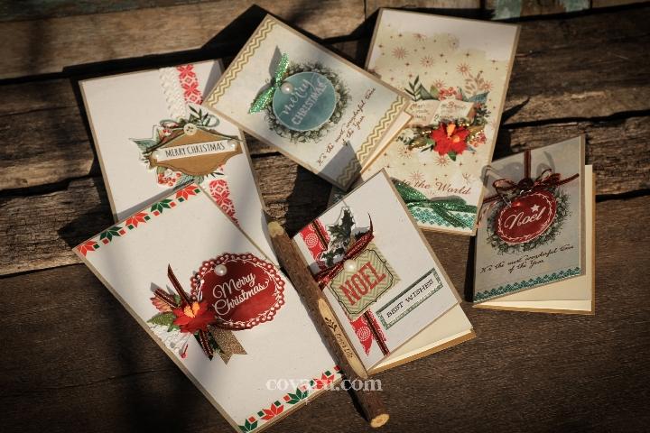 Mẫu thiệp noel handmade vintage