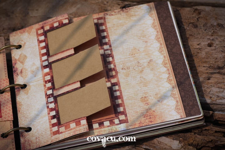 Giấy vintage làm thiệp, scrapbook