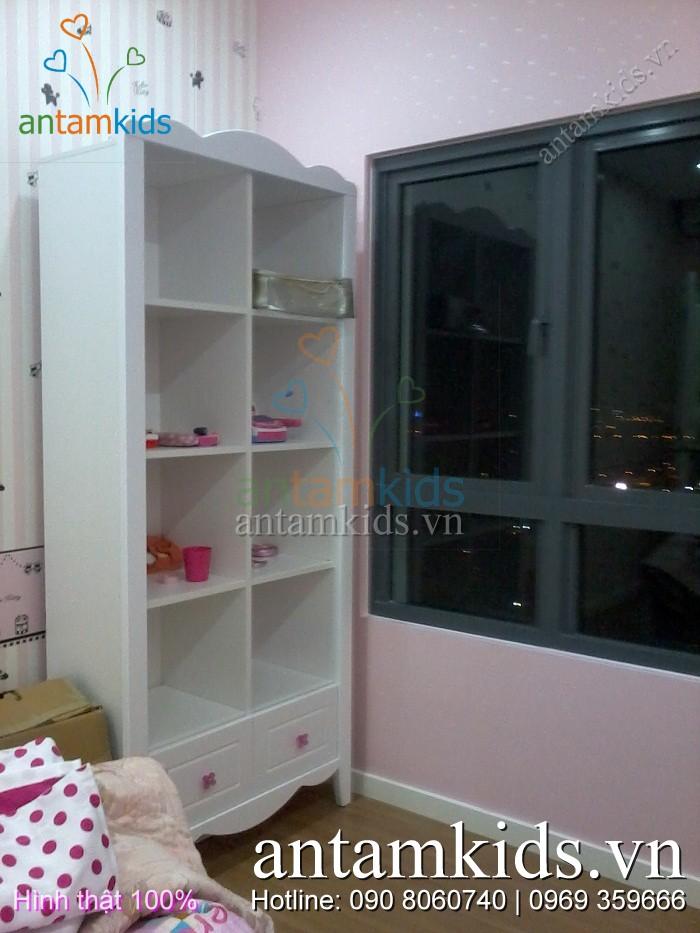 Bộ phòng ngủ trẻ em cao cấp Tomy Niki nhập khẩu của Nội thất AnTamKids.vn - Hình thật 100%